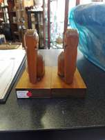 Wood door stoppers x2 (p3047/229)