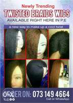 twisted braids wigs