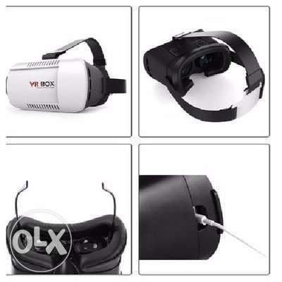 3D Virtual Reality Glasses VR Helmet Plus Bluetooth Controller Lagos Mainland - image 3