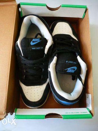 9c234899e Czarno-biało-niebieskie buty sportowe Nike Skeet JR 37