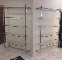 5 Tier glass shelves for sale x 3