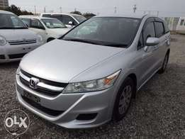 Honda Stream Year 2010 Model Automatic transmission Silver Color KCN