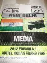 New RARE INDIAN race weekend tabard from the Formula 1 season in 2012.
