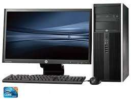 "HP Intel coi3 3.4ghz, 4gb ram, 500gb hdd, dvdwr, 20"" hp lcd desktop screen"
