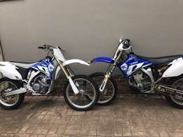 2 X Yamaha yz250f bikes in excellent condition