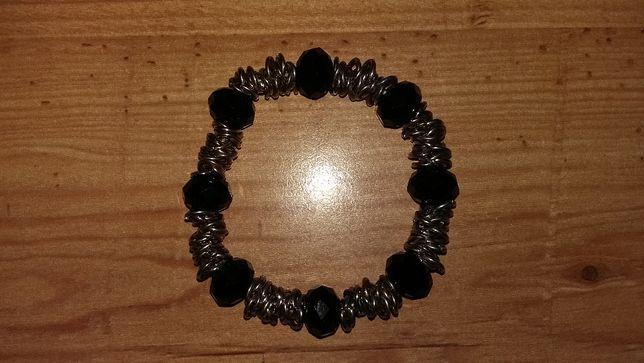 7136128f1d2cdf Biżuteria Bransoletki Czarne i Metalowe Elementy Grudziądz - image 3