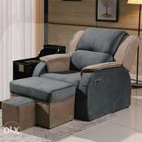 Beauty salon Electric recliner sofa with stools.
