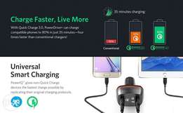 Original Anker Quick Charge 3.0 Car Charger (Compatible With Trucks)