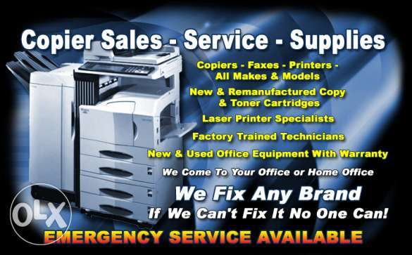 Photocopiers & Printer Sales and Repairing Services