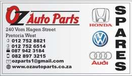 Spares for Audi,Honda and VW are available new or used