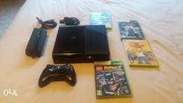 Xbox 360 + one controller + 4 games
