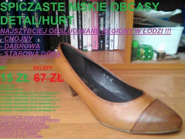 niskie brazowe obcasy roz 36-41 i inne buty DETAL CENY HURTOWE ZA PARE Łódź c775e5d686
