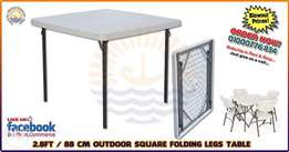 2.8 FT Outdoor square folding legs table - 88 cm