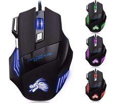 Новая Компьютерная Мышка Игровая 7 Кнопок 5500 DPI Подсветка Мышь 3e8c204f0a5ff