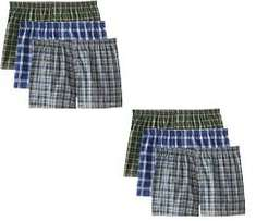 checked boys boxers in 3s