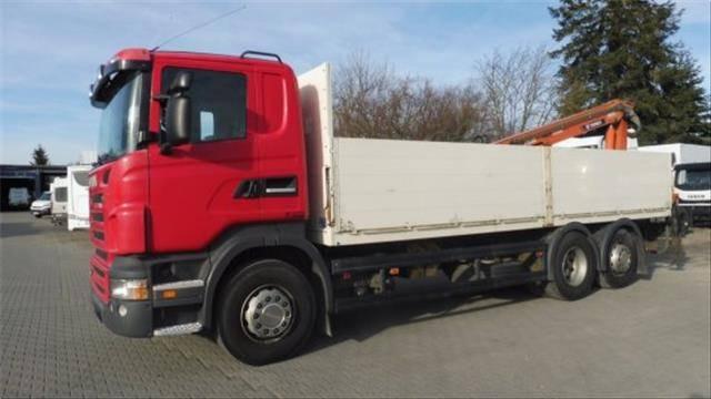 Scania R420 6X2 PRITSCHE 7M, KRAN TEREX ATLAS 142.2, RETARDER,AHK