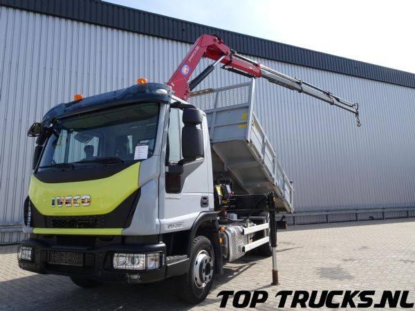 Iveco ML100-210, 7 tm HMF kraan, Crane, Kran, Kipper, Tipper - 2015