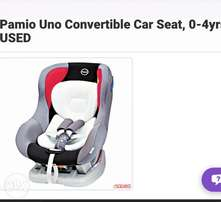 Pamio Uno Convertible Car Seat, 0-4yrs- USED