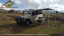 Hire a Fully Equipped Land Rover Defender / Safari Car Rental