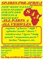 toyota tazz conquest stripping for parts. SPARES FOR AFRICA.NEW& USE