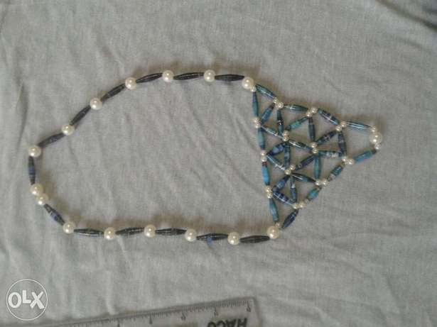 Paper bead and pearl necklace Kasarani - image 2