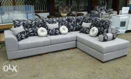 New Pure fabric n Hardwood L malis sofas*free Delivery*#*