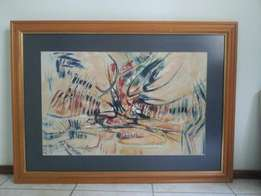 Beautiful abstract original painting of well known deceased artist