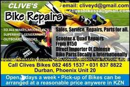 bike repairs to all makes/brands at clives bikes