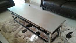 Solid steel table