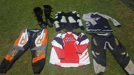 Motor X clothing and protective gear