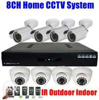 Complete 8 AHD CCTV cameras set system sale.