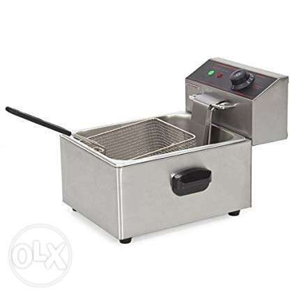 Single and double well electrica fryer