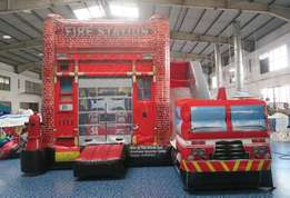 fire station bouncy castle for hire