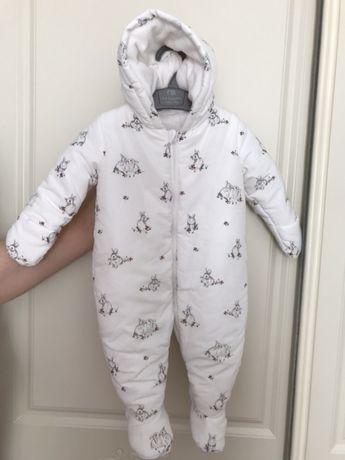 8f448783b3b508 Архив: Білий теплий комбінезон з маленькими зайченятами: 450 грн. - Одежда  для новорожденных Киев на Olx