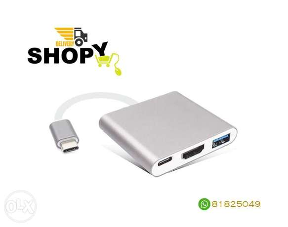 Type-C 3.1 Male to HDMI / USB 3.0 / USB-C Adapter