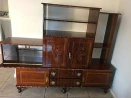 Beautiful Antique Wall Unit / Tv Stand