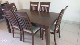 Solid hard wood 6 seater dining table