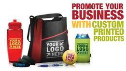 Promote your business with custom printed products...