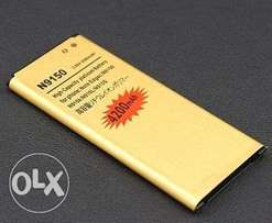 High-Capacity 4200mAh Golden Battery for Samsung Galaxy Note 4 Edge