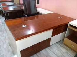 Office desk 1.6meter with extension mobile drawer