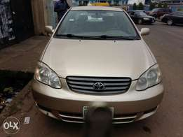 Clean registered toyota corolla