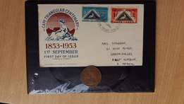 Cape Triangular Centenary First day issue wit 1934 King George Penny