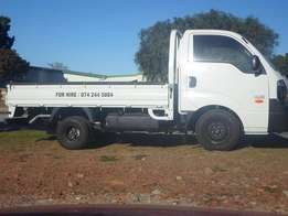 Kia bakkie & 8 ton truck for hire, best service & rates in town. Call