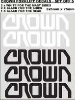 Set off 5 Crown Forklift decals