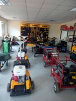 Construction equipment: plate compactor, welding generator, jumper
