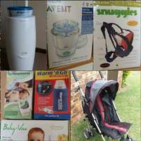 BARGAIN: Camp Cot, Pram and gadgets all for R1700! - 12 items in total