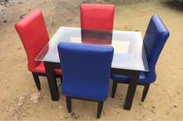 Red and Blue dinning 4 set