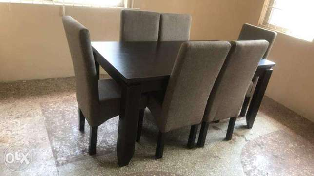 Grey Six Seater Fabric Dinning Set Lekki - image 1