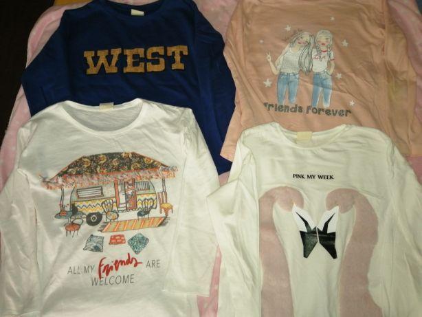 Zara bluzy i bluzki dziewczęce, rozm. 128. Skierniewice • OLX.pl