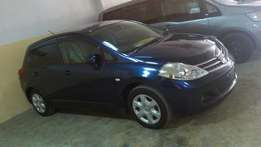Nissan tiida hatchback dark blue colour fully loaded
